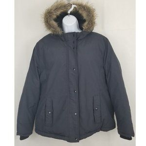 OLD NAVY Hooded Faux Fur Trim Parka GRAY XL